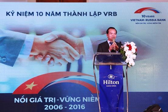 Ông Lê Kim Hòa - Phó Tổng Giám đốc BIDV phát biểu chúc mừng VRB