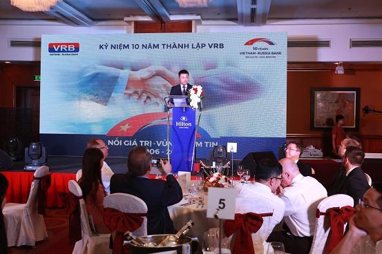 (Ông Đoàn Minh Tiến - Tổng Giám đốc VRB phát biểu khai mạc buổi lễ)